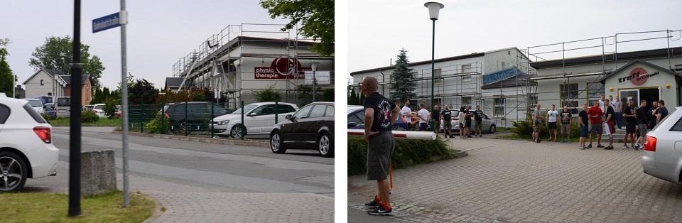 """Bildunterschrift: Der """"Treffpunkt Grünhain"""", in dem """"Tiwaz"""" stattfand (Quelle: Pixelarchiv)"""