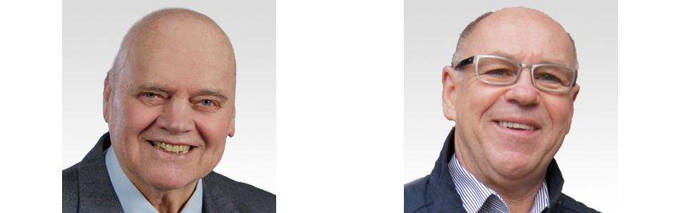 Links: Lothar Lauterbach, Rechts: Volkmar Schöpke