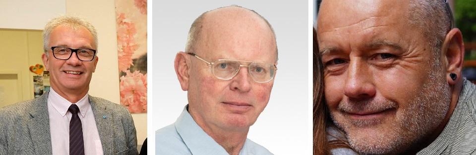 Links: Steffen Wegert, Mitte: Otto Günter Boden, Rechts: Falk Heiligenschmidt